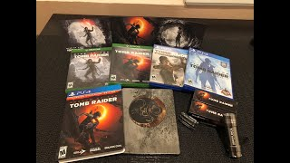 Shadow of the Tomb Raider unboxing (PS4 limit steelbook edition, Xbox One standard edition)