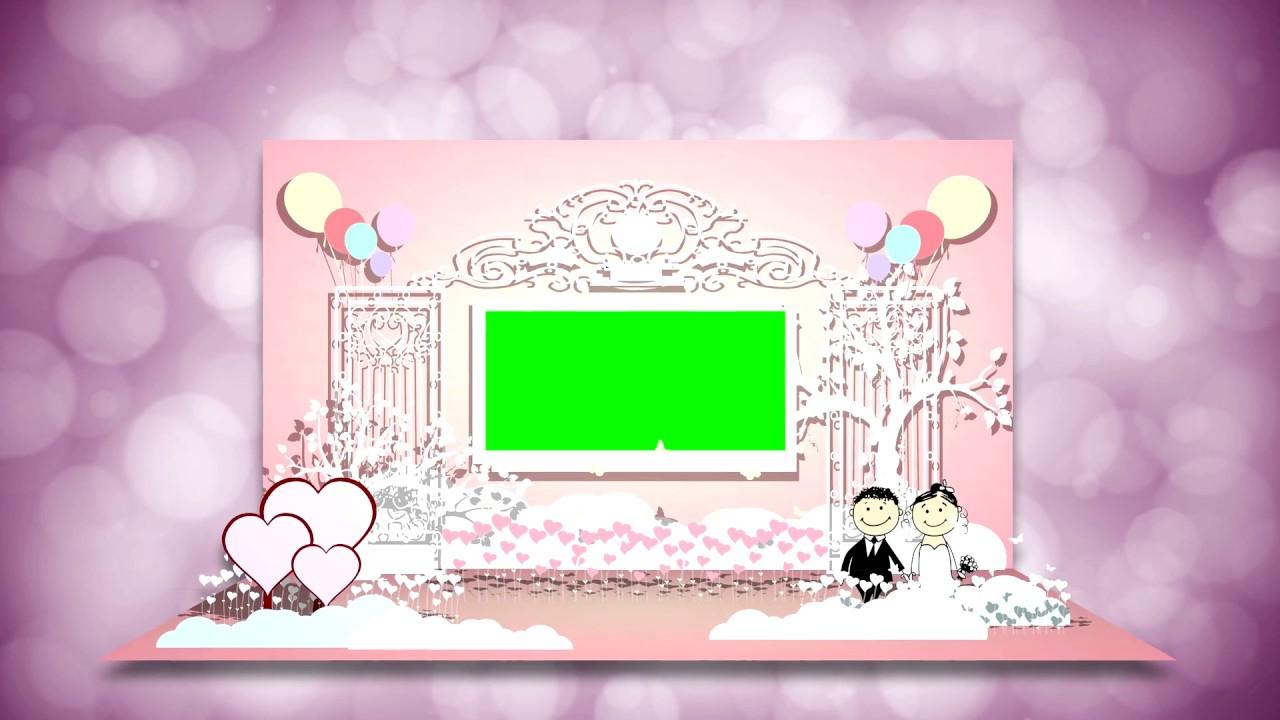 4k, Opening Wedding Card Green Screen Animation, Wedding Video Background. UHD.
