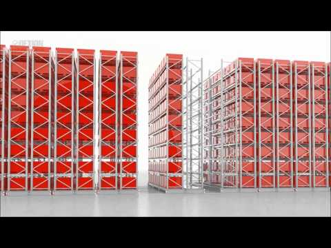 Dexion MOVO Mobile Pallet Racking animation