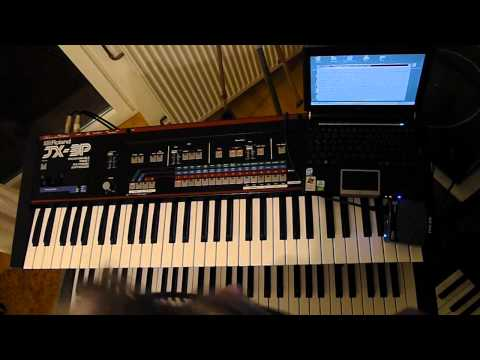 JX-3P with velocity sensitivity /organix Sound demo #part 03