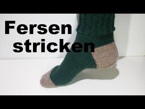 Fersen Stricken - Käppchenferse - Socken Stricken