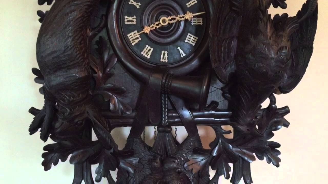 5 Foot Antique Hunter Cuckoo Clock, Circa 1890 1900   YouTube