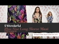 9 Wonderful Plus Size Long Sleeve Maxi Dresses Amazon Maxi Style Collection 2017
