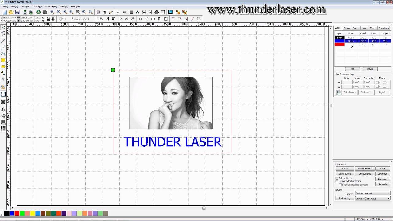 laser cutter software rdworks v8 tutorial 15 How to Set ...