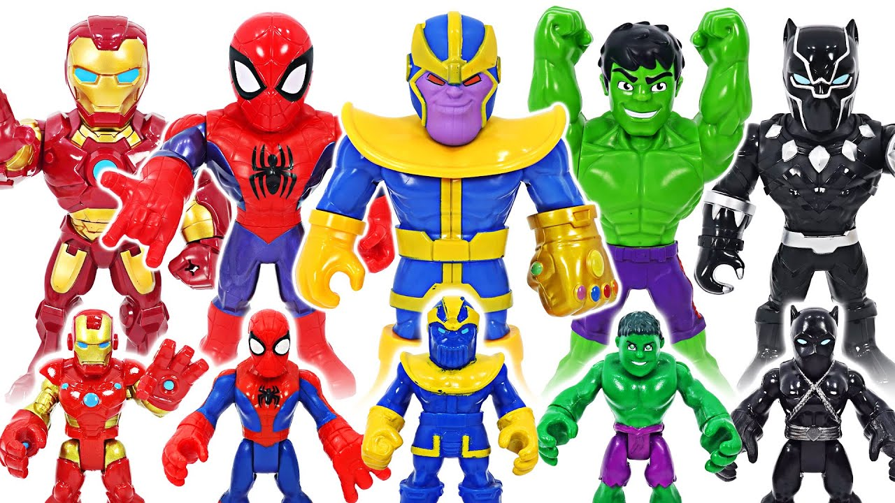Defeat Marvel Thanos who transformed into Mega Mighties Thanos!   DuDuPopTOY