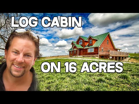 Log cabin home for sale in kentucky 16 acres views for Kentucky home builders