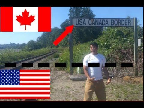 La frontera sin vigilancia, USA CANADA, cruce caminando, como si nada,