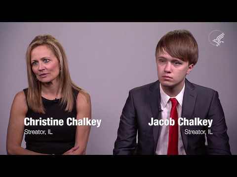 Christine Chalkey and Jacob Chalkey of Streator, Illinois