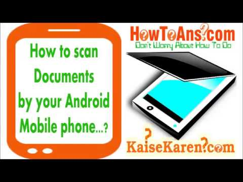 How to scan any Paper Documents using android mobile phone and save as PDF