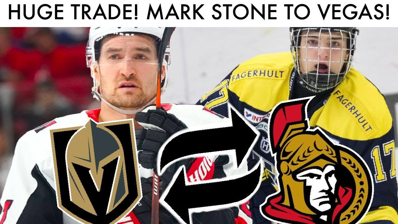 Mark Stone For Erik Brannstrom TRADE Discussion! (Vegas Golden  Knights-Ottawa Senators NHL Deadline)