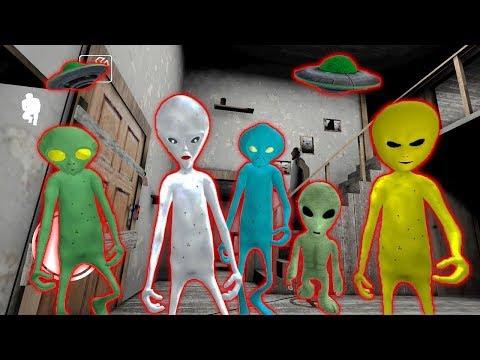 5 ПРИШЕЛЬЦЕВ СОСЕДИ ГРЕННИ Зона 51 - Alien Neighbor. Area 51 Escape Granny