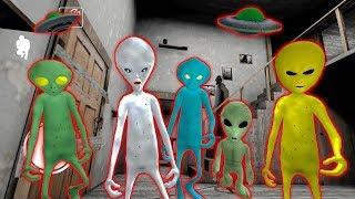 5 ПРИШЕЛЬЦЕВ СОСЕДИ ГРЕННИ Зона 51   Alien Neighbor. Area 51 Escape Granny