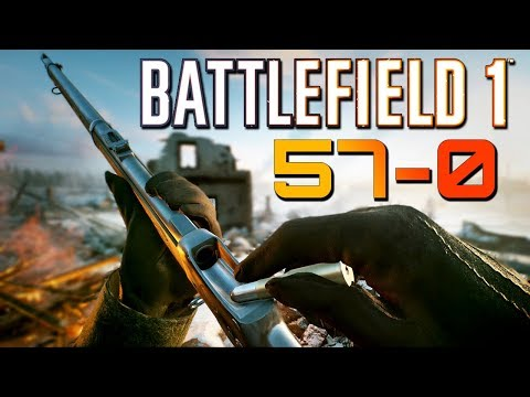 Battlefield 1: 57 Kills 0 Deaths - Martini-Henry Sniping (PS4 PRO Multiplayer Gameplay)