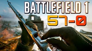Battlefield 1 57 Kills 0 Deaths Martini Henry Sniping PS4 PRO Multiplayer Gameplay