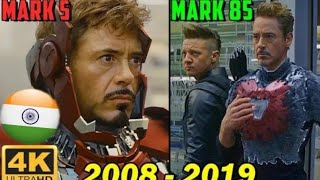 Iron man all suit up scene in hindi (2008-2019)