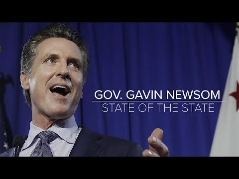 California Governor Gavin Newsom Delivers His First State of the State Address