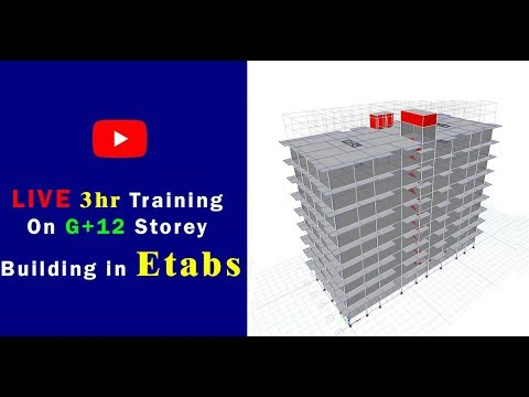 Live training on G+12 Multi-Storey building in Etabs 2016  |  fieldReady
