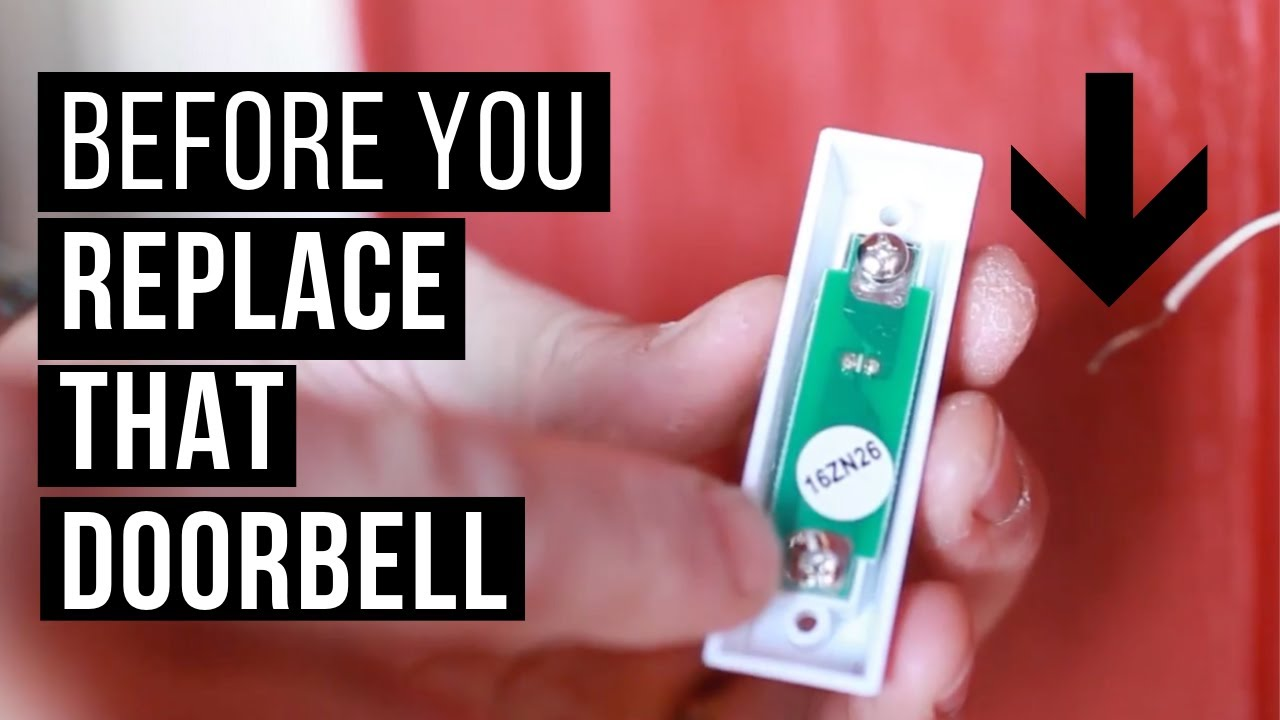Replace A Doorbell Button Youtube Wiring Switch
