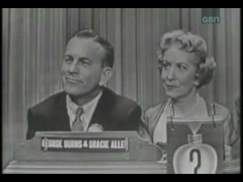 Whats my line? -  George Burns and Cracie Allen