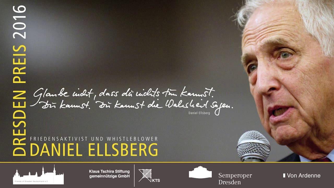 Dresdner Friedenspreis 2016 Dresden Peace Prize 2016 Daniel Ellsberg