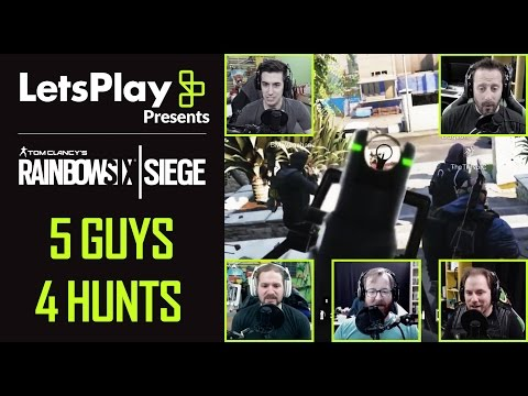 Rainbow Six Siege: 5 Guys, 4 Hunts With Achievement Hunter | Let's Play Presents | Ubisoft