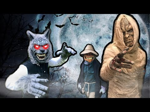 Ultimate BEAST Nerf Showdown! Sneak Attack Halloween Monsters! |
