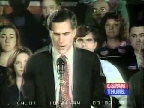 Romney 1994 Senate Campaign Speech