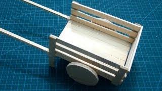 How to make ice cream stick Bullock Cart