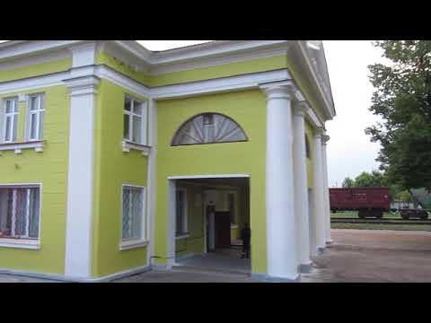 Красивое здание ж/д вокзала в Новосокольниках после ремонта