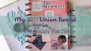 My 2107 Vision Board in The Happy Planner