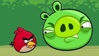 Angry Birds Kick Piggies - GAMEPLAY STELLA AND RED KICK OUT PIGS!