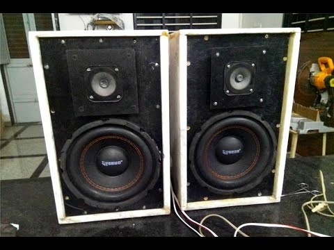 "FREDO 8""SUB WOOFER AND Tweeter With Marble and Wood speaker box enclosure सुब्वूफर स्पीकर बोक्स"