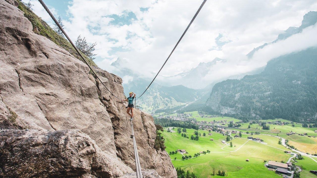 Klettersteig Allmenalp : Klettersteig via ferrata allmenalp kandersteg youtube