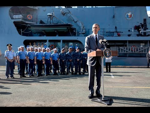 President Obama Delivers Remarks in Manila Harbor