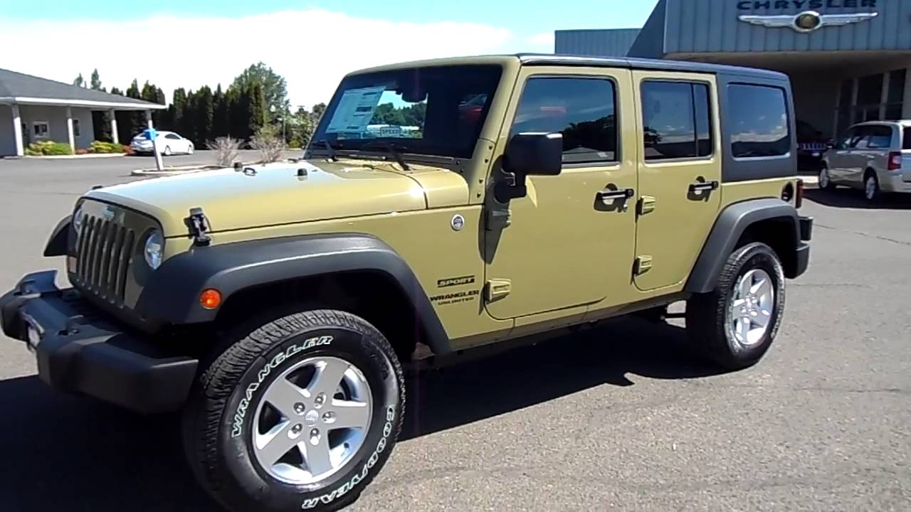 2013 jeep wrangler commando green w7964 youtube. Black Bedroom Furniture Sets. Home Design Ideas