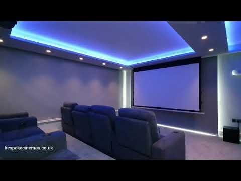 Bespoke Home Cinema with Automated Blinds and Control4 Automation