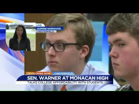 WATCH: Senator Mark Warner at Monacan High School