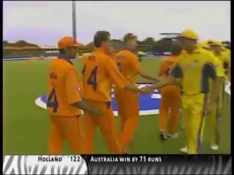 Australia vs The Netherlands - ICC Cricket World Cup 2003 match at Potchefstroom, South Africa.