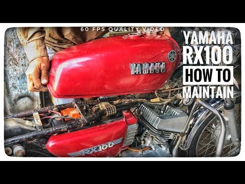 RARE YAMAHA RX100 SERVICE MAINTENANCE ALL IN ONE