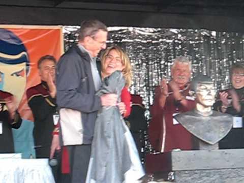 "'Spock' Leonard Nimoy at Vulcan, Alberta, Canada's ""Star Trek Capital."""