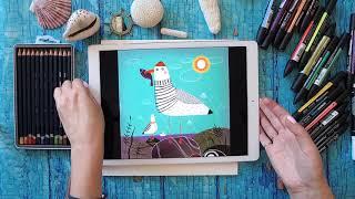 Как нарисовать чайку. | Пробный урок Рисовального Лагеря от Lil School