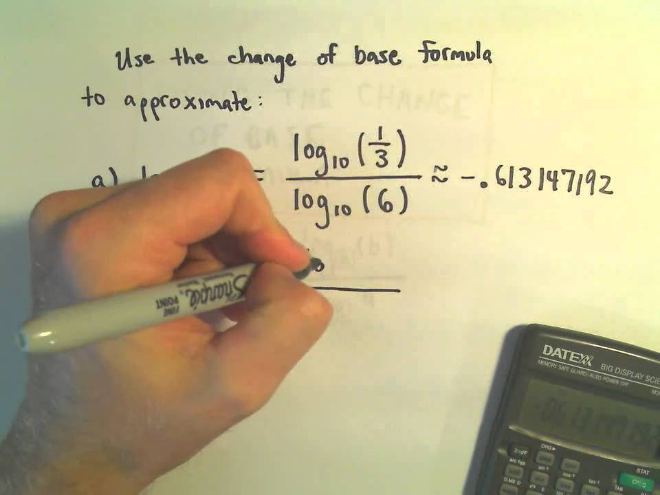 Change of Base Formula for Logarithms - YouTube