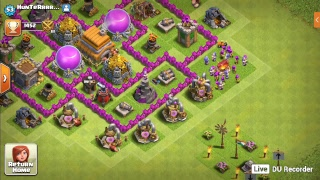 clash of clans visit ur base and information of my clan