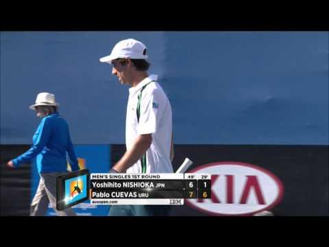 Pablo Cuevas v Yoshihito Nishioka highlights (1R)   Australian Open 2016