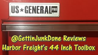 Harbor Freight 44 Inch Toolbox Review GettinJunkDone