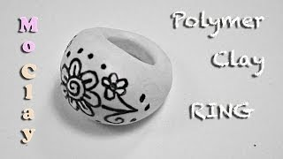 DIY Polymer Clay Tutorial. Drawn Ring - Arcilla polimérica Anillo - Argilla polimerica Anello