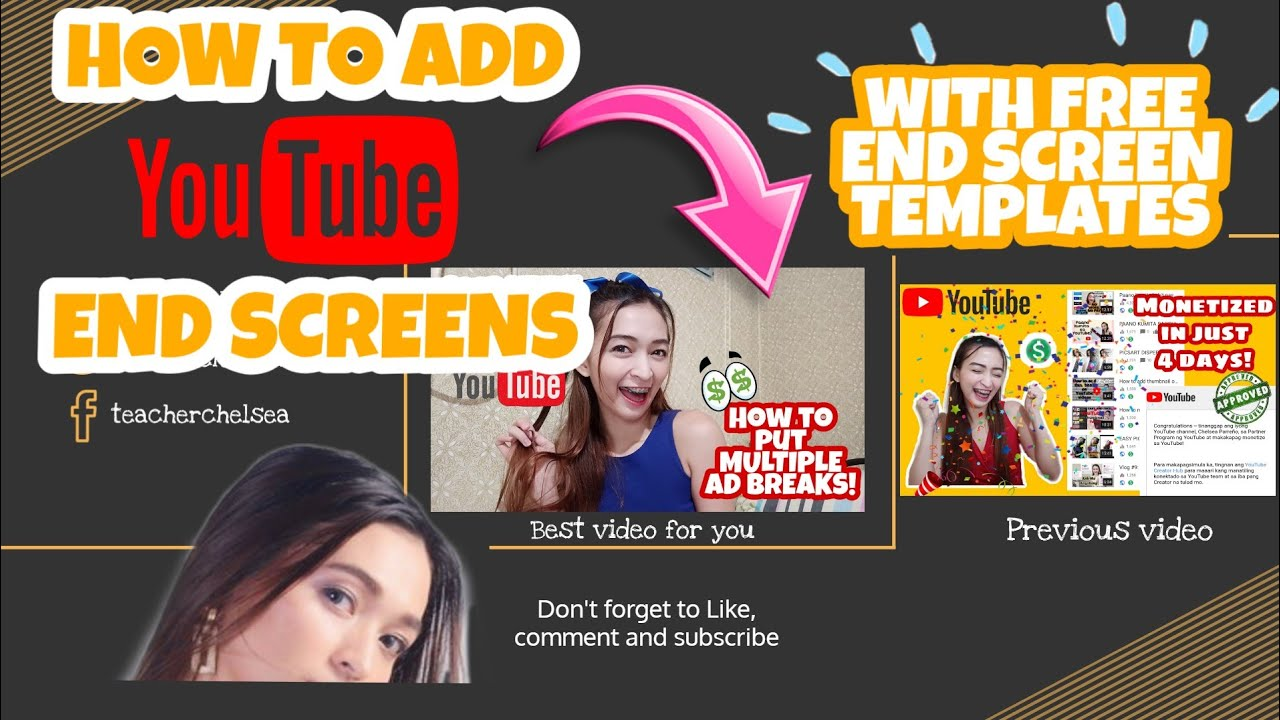 How to add youtube end screen + free end screen templates