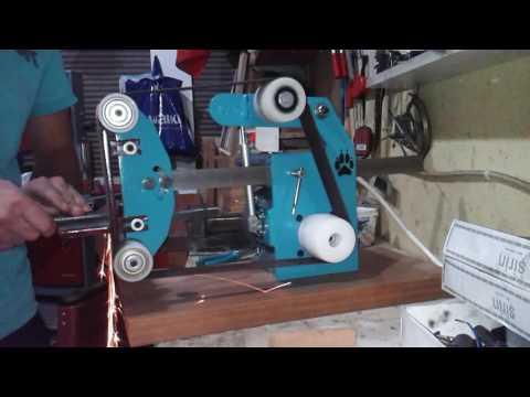 belt grinder 0.55 kw ac motor steel body  bant zımpara çelik kasa 0.55 kw motor