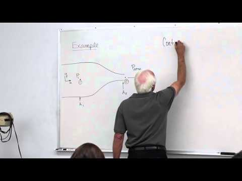Fluid Mechanics: Linear Momentum Equation and Bernoulli Equation Examples (11 of 34) from YouTube · Duration:  1 hour 9 minutes 1 seconds