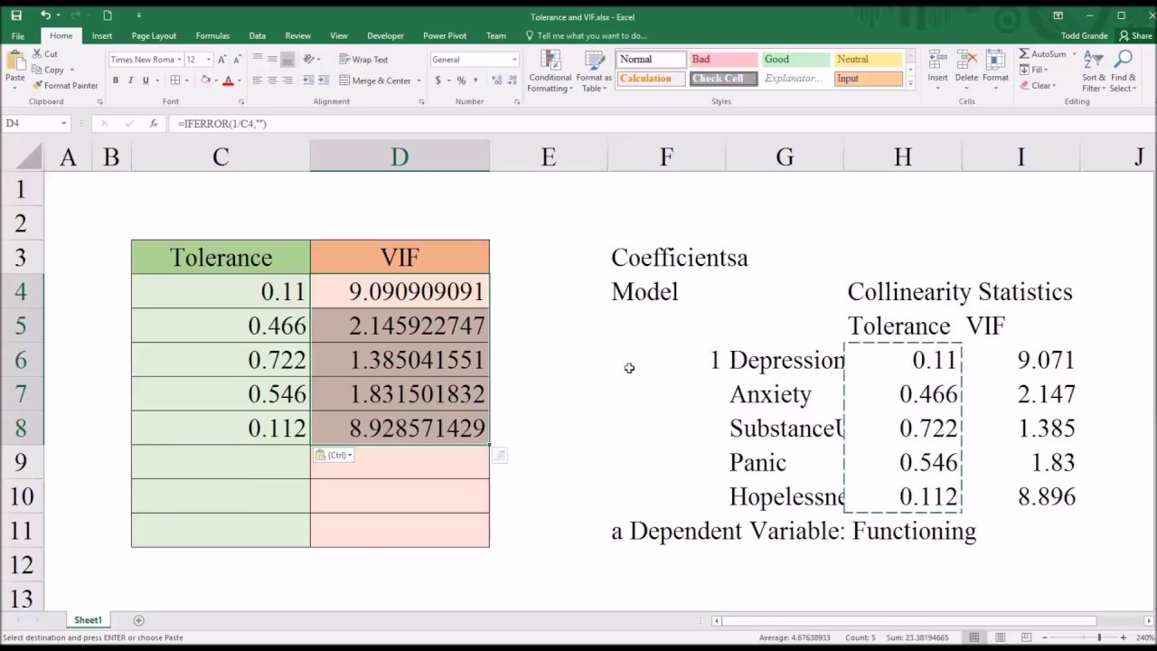 Understanding and Identifying Multicollinearity in Regression using SPSS